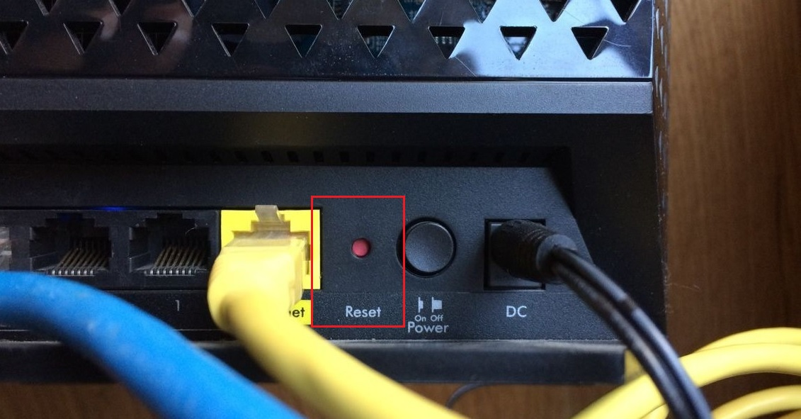 How to reset a router
