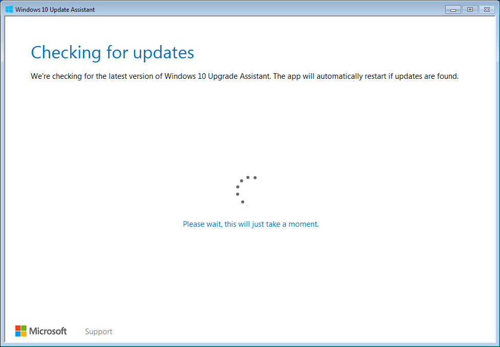Double-click and run Windows 10 Upgrade Assistant.