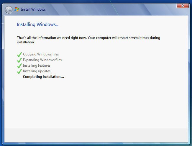 Install Windows 7 from a Bootable USB