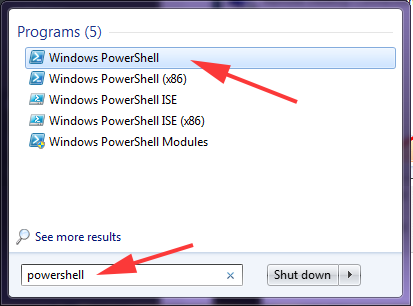 How to Open Windows PowerShell in windows 7