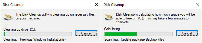 Delete windows.old and other files