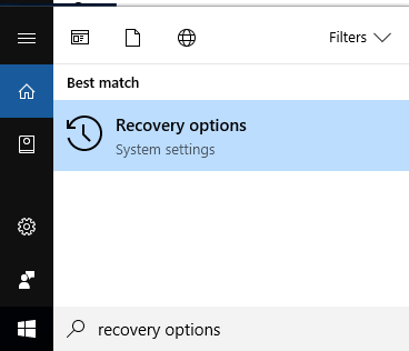 Way 2: Recovery options