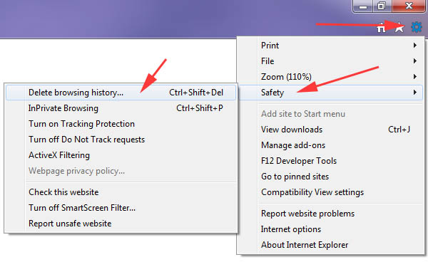 Clear History Cache & Cookies in Internet Explorer 11