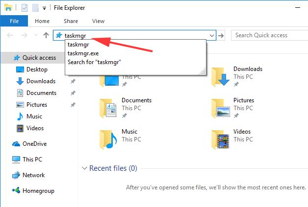 File Explorer or Windows Explorer to Open Task Manager