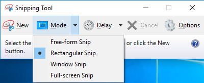Use Snipping Tool to Take Screenshots