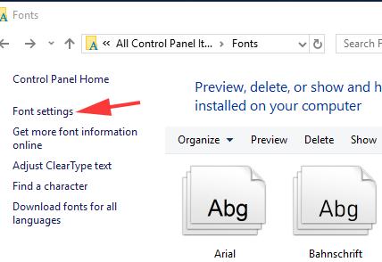 Restoring Your Default Fonts