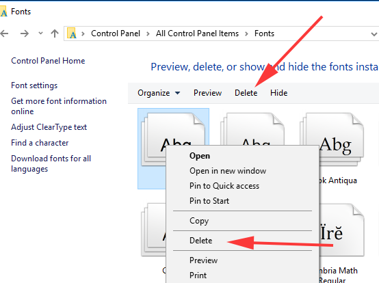 How to Install Fonts in Windows 10 and Windows 7