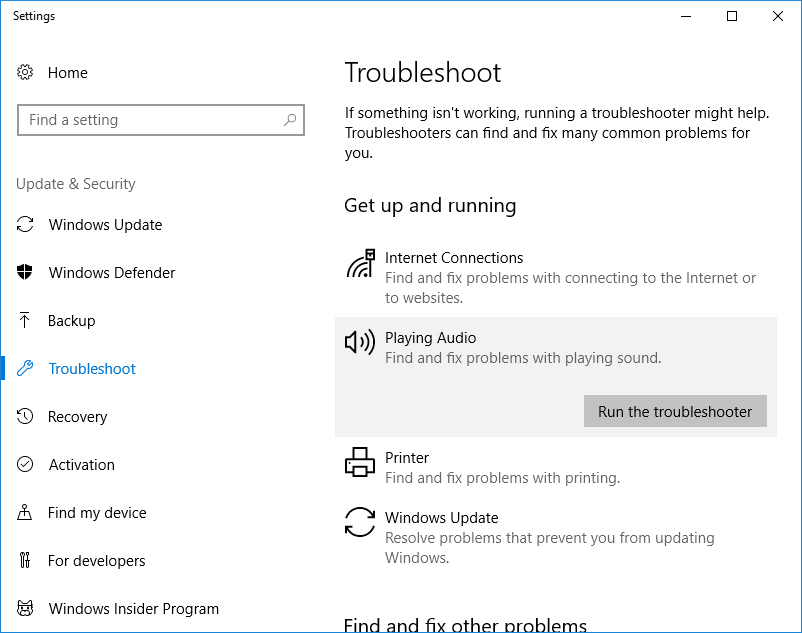 Skype Audio Troubleshooter