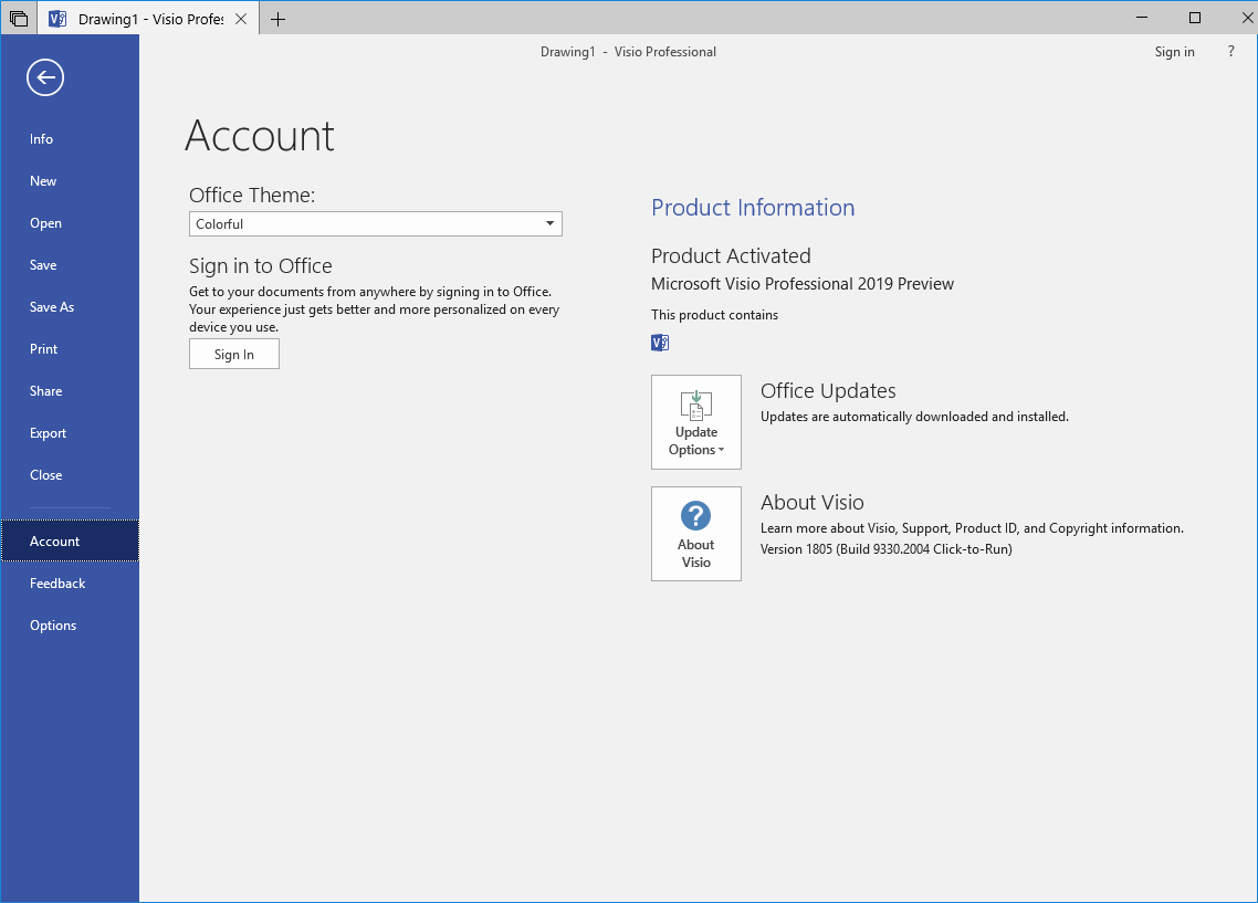 Install Project or Visio 2019